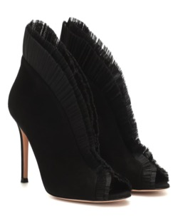 GIANVITO ROSSI(ジャンヴィト ロッシ ) Tulle 105 Suede Ankle Boots