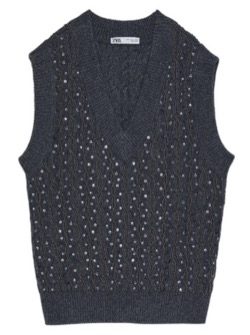 ZARA  LIMITED EDITION BEAD AND SEQUIN VEST