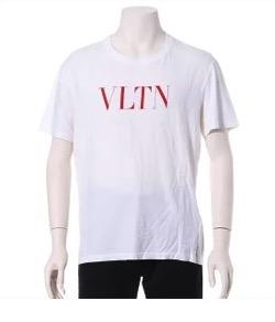 VALENTINO (ヴァレンチノ) VLTN ロゴプリント 半袖Tシャツ