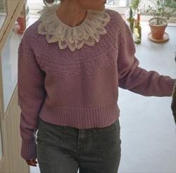 vocavaca Vacation Crop Knit_Purple