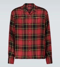 undercover チェックの長袖シャツ