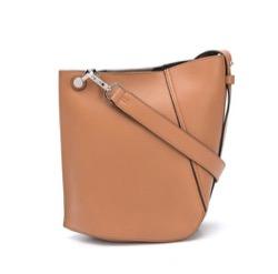 LANVIN (ランバン) earth coloured hook bag
