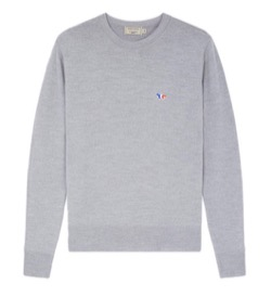 MAISON KITSUNE Tricolor Fox Patch Pullover
