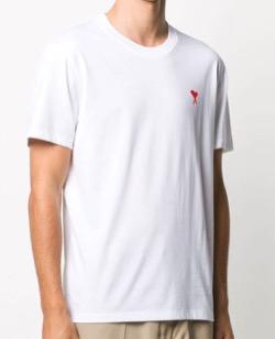 AMI Paris AMI Paris Ami De Coeur Patch T-shirt - ホワイト