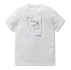 EPIGRAM  [EPIGRAM WOMEN'S X MOONJ] Puppy Illustration T-Shirt