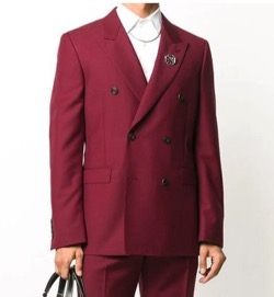 alexandermcqueen Red Panama Brooch Blazer