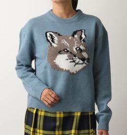 MAISON KITSUNE(メゾンキツネ)クルーネック ニット セーター
