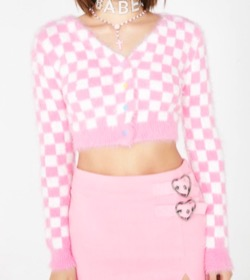 Sugar Thrillz(シュガースリルズ) SWEET DAYDREAM CHECKERED CARDIGAN