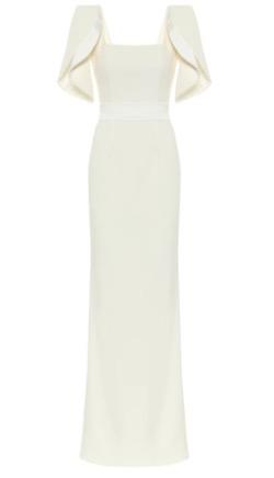 safiyaa  Dara Ivory Long Dress