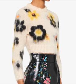 MIUMIU Knit Floral Jumper