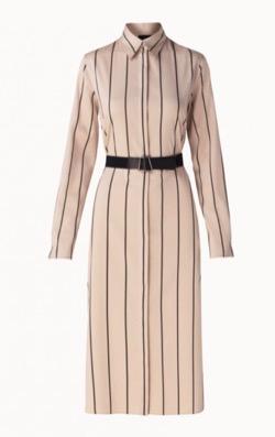 AKRIS(アクリス) Striped Shirtdress