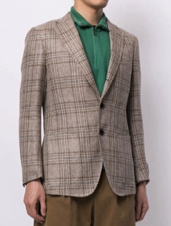 MAN ON THE BOON Silk Blend Single Jacket
