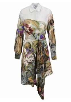 OFF-WHITE Botanical Dress, White Multicolor