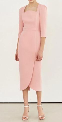 BRIDE AND YOU  AMELIA Square Neck Tulip-Skirt Dress