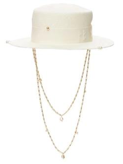 【V(ブイ)】BTS「BUTTER(バター)」 MVファッション白い帽子(チェーン付きハット)