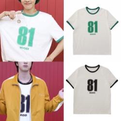 【J-HOPE】BTS「BUTTER(バター)」 MVファッショングリーンの81番プリントTシャツ