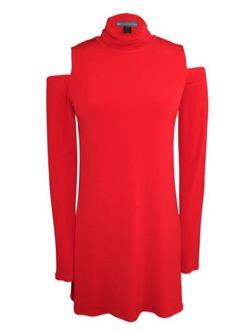 Mine マイン・イボヨン衣装赤いオフショルカットソーブラウス