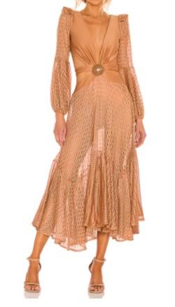 【TWICE・Mina(ミナ)】Alcohol-FreeのMV衣装(ワンピース)ピンクベージュのドレス