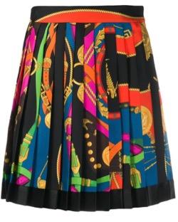 【TWICE・Mina(ミナ)】Alcohol-FreeのMV衣装(ワンピース)プリントプリーツスカート