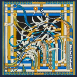 【TWICE・Sana(サナ)】Alcohol-FreeのMV衣装(スカーフ)ブルーとイエローのスカーフ