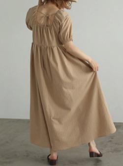 わかっていても ハンソヒ(ユ・ナビ) 衣装バックリボンのワンピース