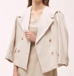 【わかっていても 第3話】 ハン・ソヒ(ユ・ナビ)さん衣装(ジャケット)白いショートジャケット