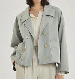 【わかっていても 第3話】 ハン・ソヒ(ユ・ナビ)さん衣装(ジャケット)グリーンのショートジャケット