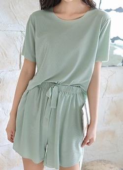 【わかっていても 第3話】 ハン・ソヒ(ユ・ナビ)さん衣装(ジャケット)グリーンのセットアップパジャマ
