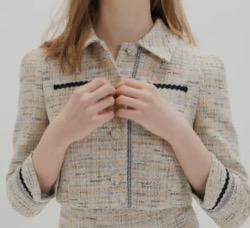 【わかっていても 第3話】 ハン・ソヒ(ユ・ナビ)さん衣装(ジャケット)ツイードショートジャケット