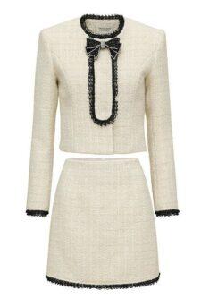 わかっていても ハンソヒ(ユ・ナビ) 衣装白いツイードツーピース