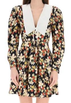 【わかっていても 第3話】 ハン・ソヒ(ユ・ナビ)さん衣装(ジャケット)花柄のミニワンピース・ドレス
