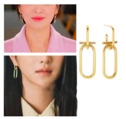 【ボーイフレンド】 ソン・ヘギョ(チャ・スヒョン)衣装(ピアス)ゴールドのフープピアス