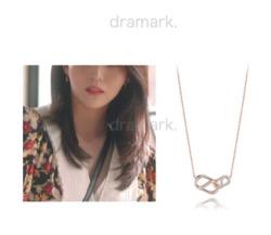 【わかっていても】 ハン・ソヒ(ユ・ナビ)さん衣装(ピアス・ネックレス)ピンクゴールドのネックレス