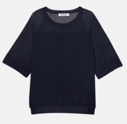 【わかっていても 第8話】 ハン・ソヒ(ユ・ナビ)衣装黒い半袖ニット