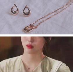 【わかっていても】 ハン・ソヒ(ユ・ナビ)さん衣装ゴールドのしずく型ネックレス