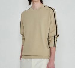 【わかっていても】 ソンガン(パク・ジェオン)衣装ベージュの袖ラインスウェットニット