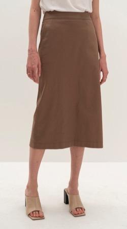【海街チャチャチャ】シン・ミナ(ユン・ヘジン役)衣装ブラウンのニットタイトスカート