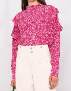 第1話・第2話【海街チャチャチャ】シン・ミナ(ユン・ヘジン役)衣装(ローファー・ヘアピン・スリッパ・パンプス・財布・腕時計・ピアス・バッグ・ジャケット・ベスト・パンツ・ネックレス・バッグ)のブランドはこれ♪ピンクの袖フリルブラウス